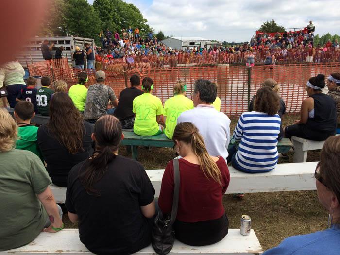 Pig wrestling at Valmy Thrasheree WI