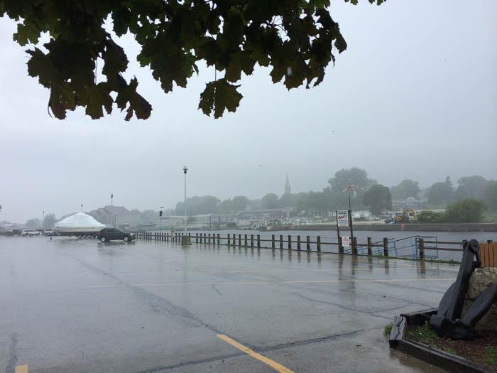 Algoma WI in the rain