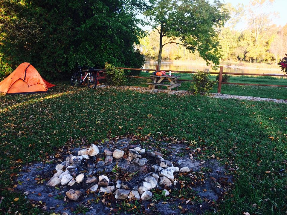campground and biking in wisconsin