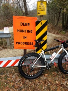 cycling in state parks during hunting season