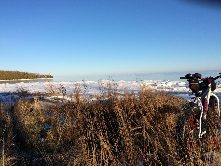 Newport State Park WI Fat bike