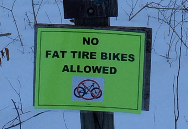 Fat Biking on State Park Trails in the Winter