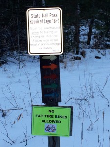 peninsula state park restricted to snow bikers