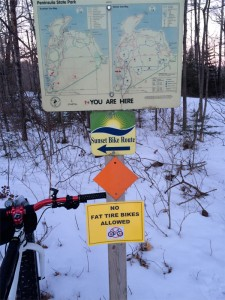 Peninsula State Park Fat Bike access restrictions