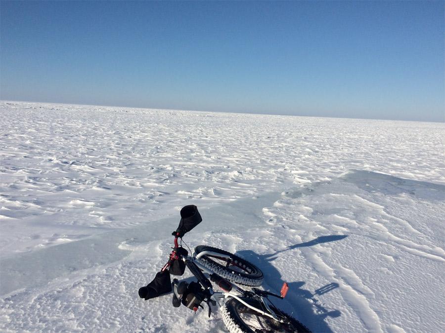 Fat Tire Bikes in Snow.