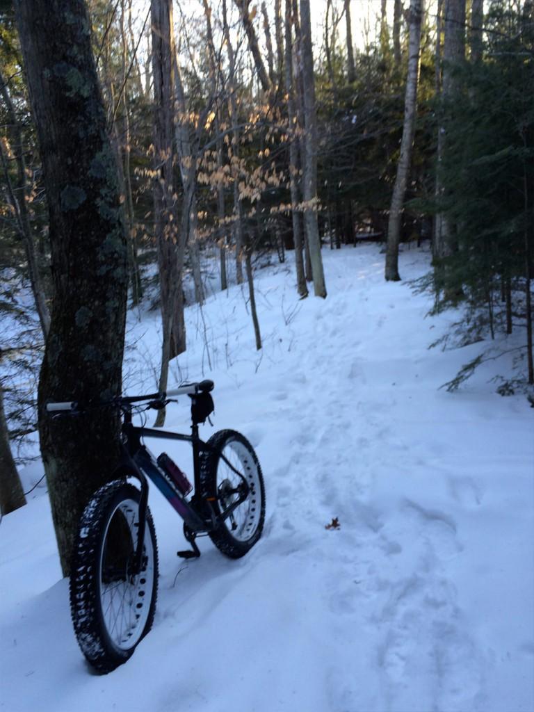 Fat Biking at Newport State Park in Door County WI