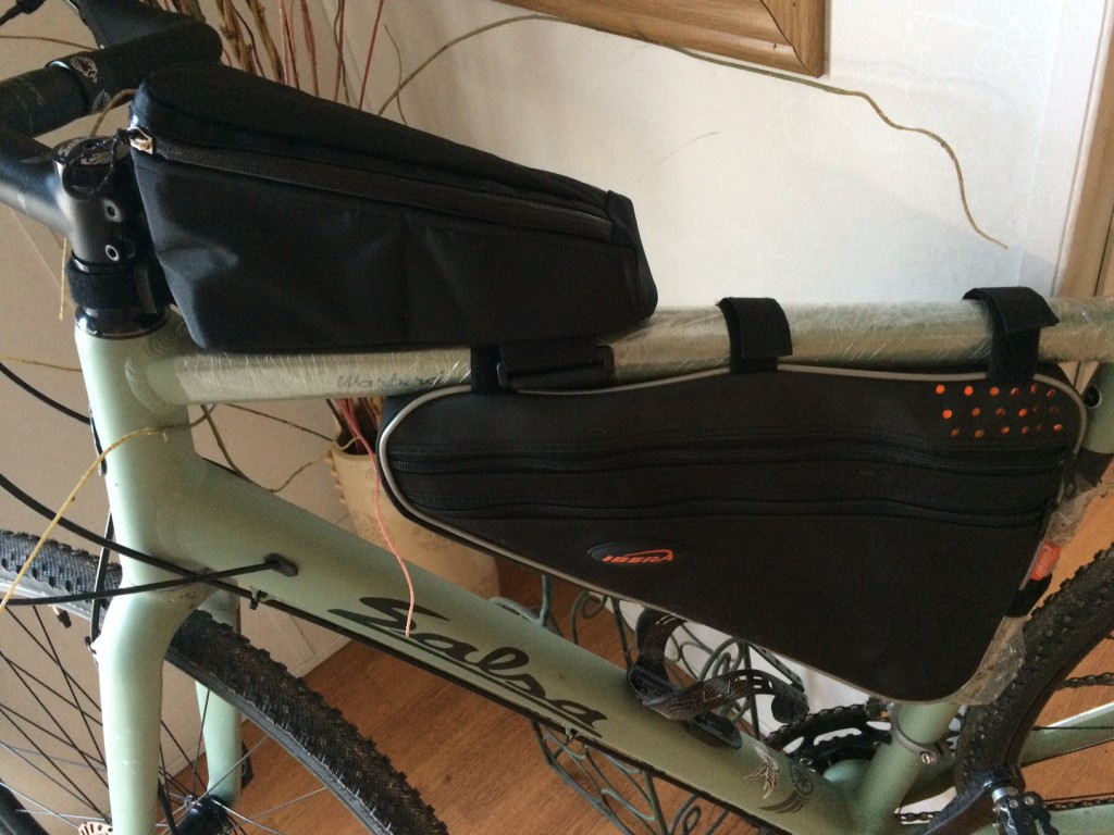 frame bags for bikepacking on a salsa warbird 2016