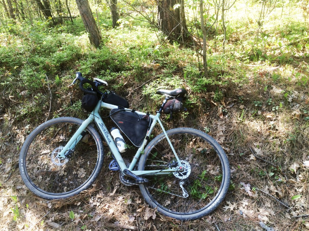 salsa warbird on the Bear 100 gravel race