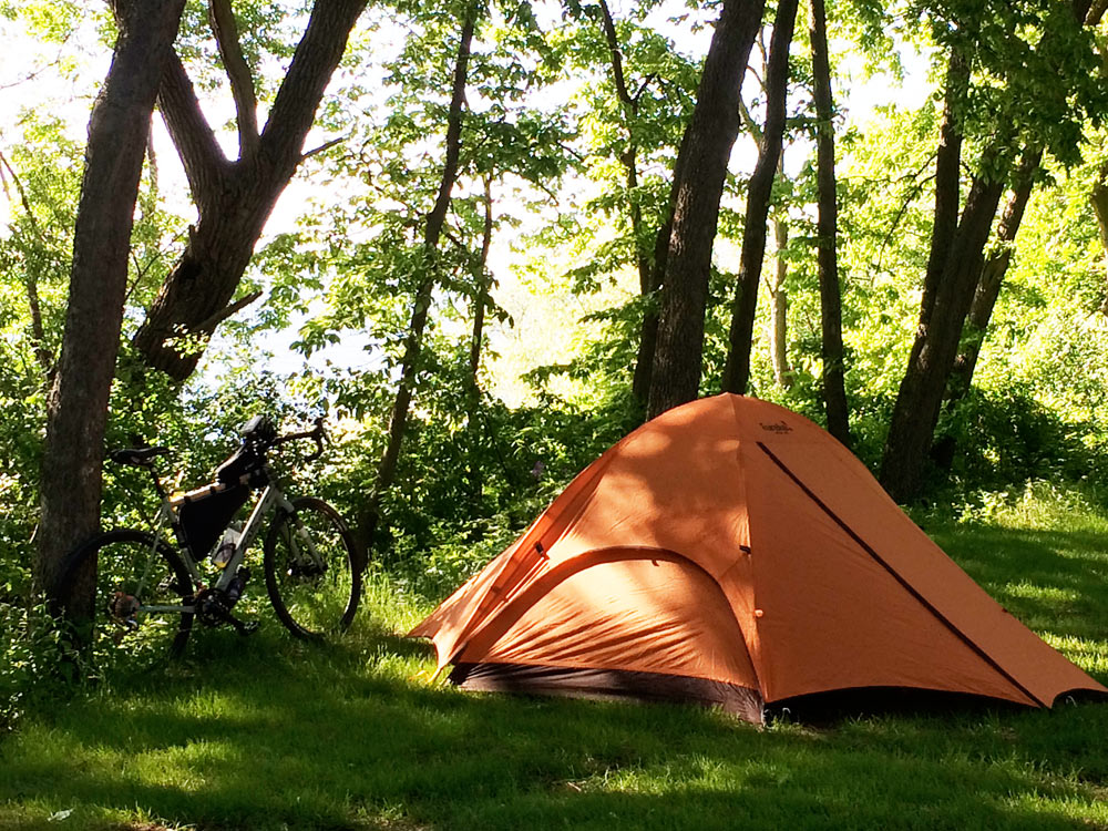 Camping / cycling in Stockbridge WI